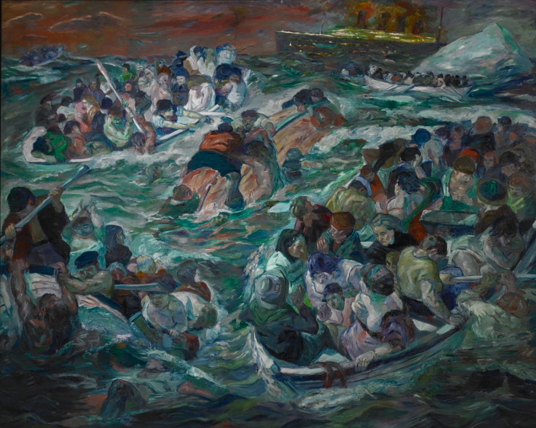 Max Beckmann, The Sinking of the Titanic, 1912-13.