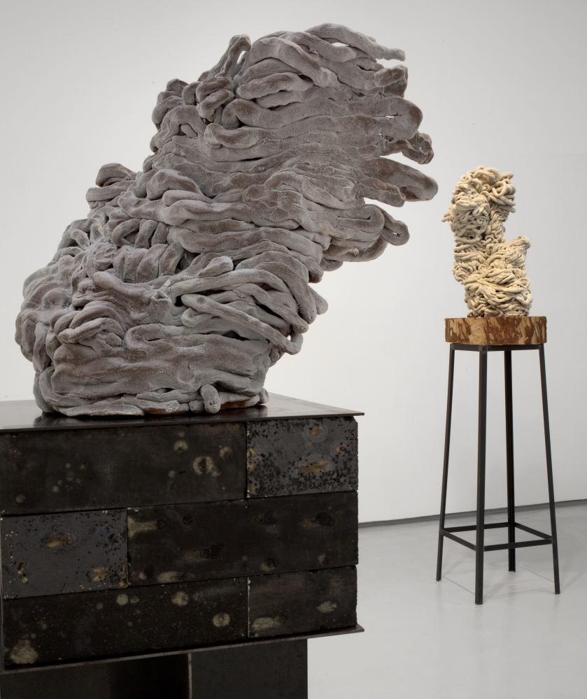 Arlene Shechet, Because of the Wind (foreground), 2010.