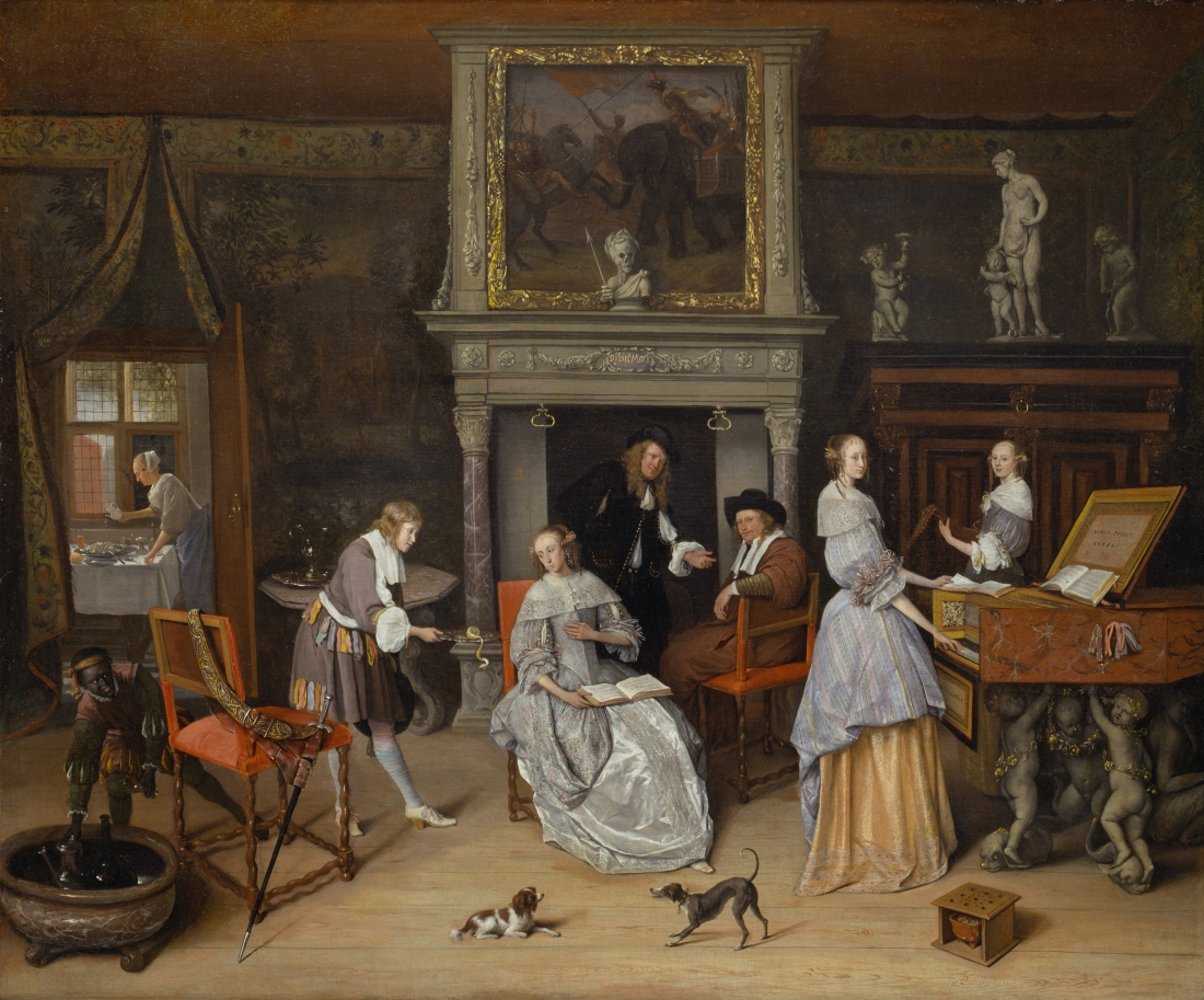 Jan Steen, Fantasy Interior with Jan Steen and the Family of Gerrit Schouten, ca. 1663.