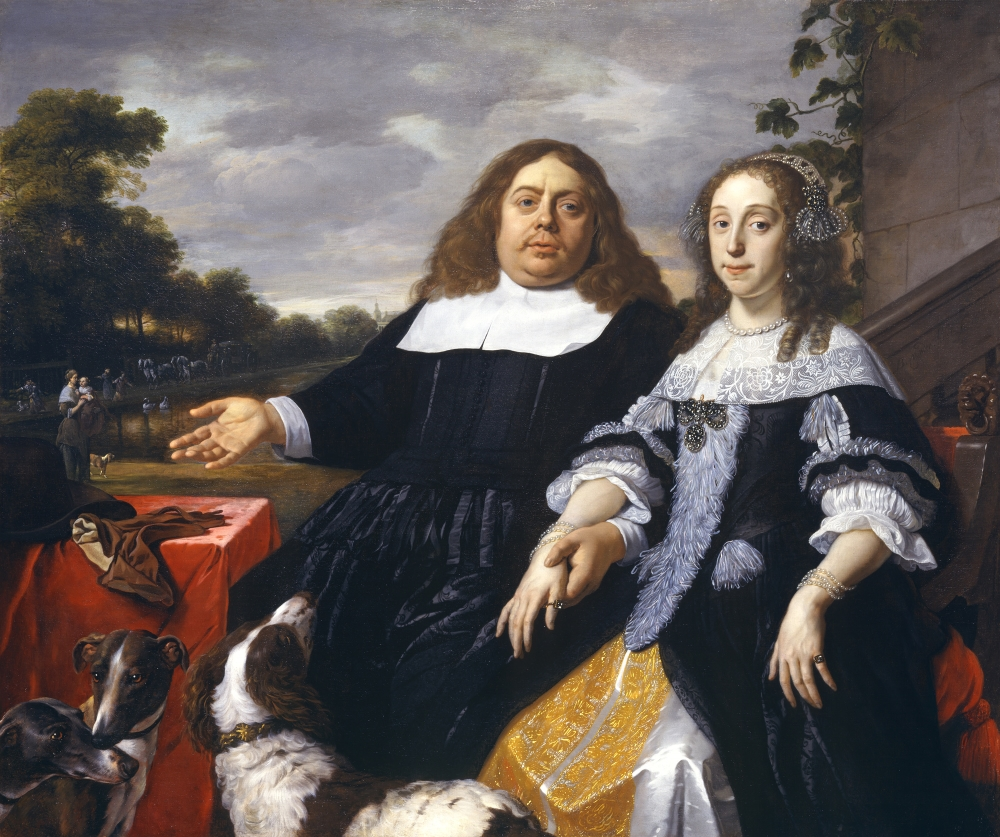 Bartholomeus van der Helst, Jan Jacobsz. Hilopen and His Wife, Lucia Wijbrants, 1666.