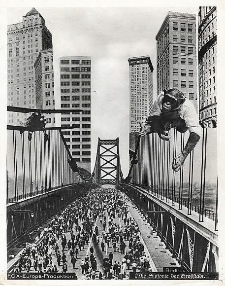 """Advertising photocollage for """"Berlin Die Sinfonie der Großstadt,"""" 1927."""