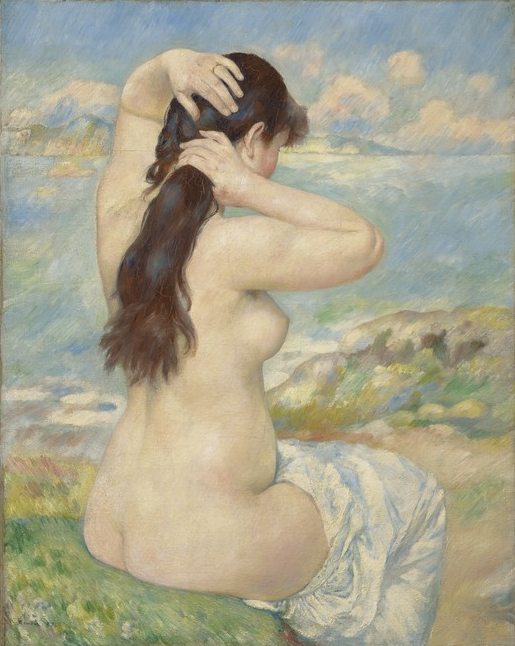 Pierre-Auguste Renoir, Bather Arranging Her Hair, 1885.