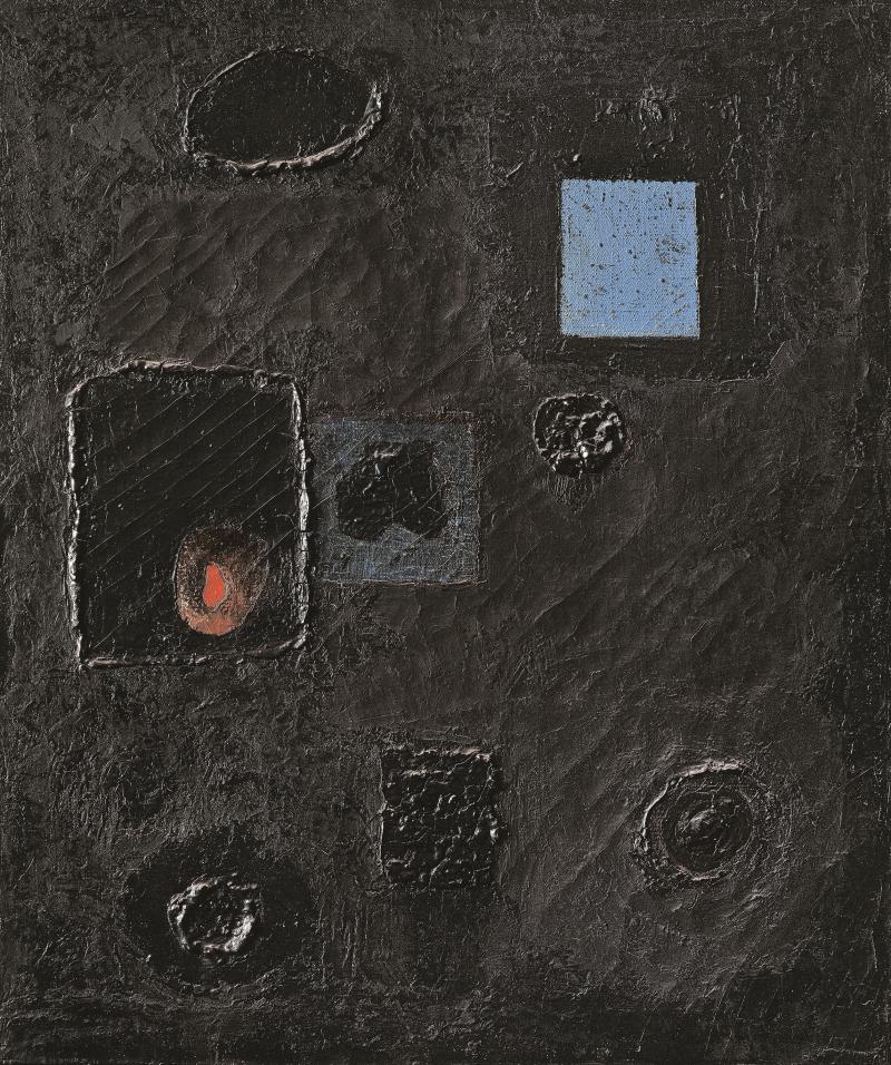 Alberto Burri, Nero 1 (Black 1), 1948.