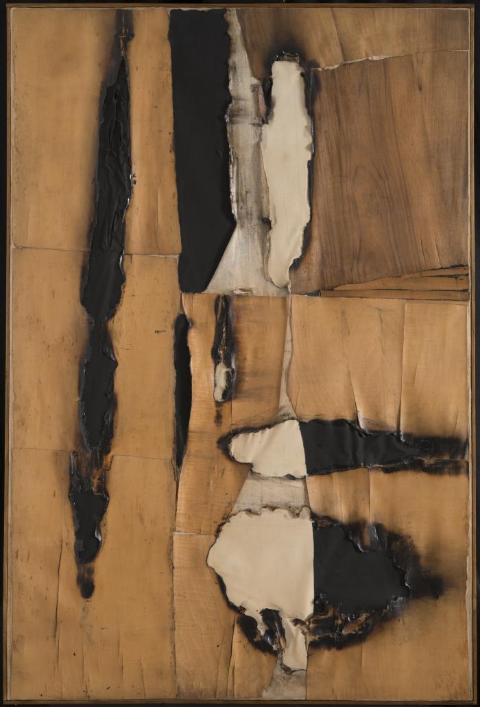 Alberto Burri, Combustione legno (Wood Combustion), 1957.