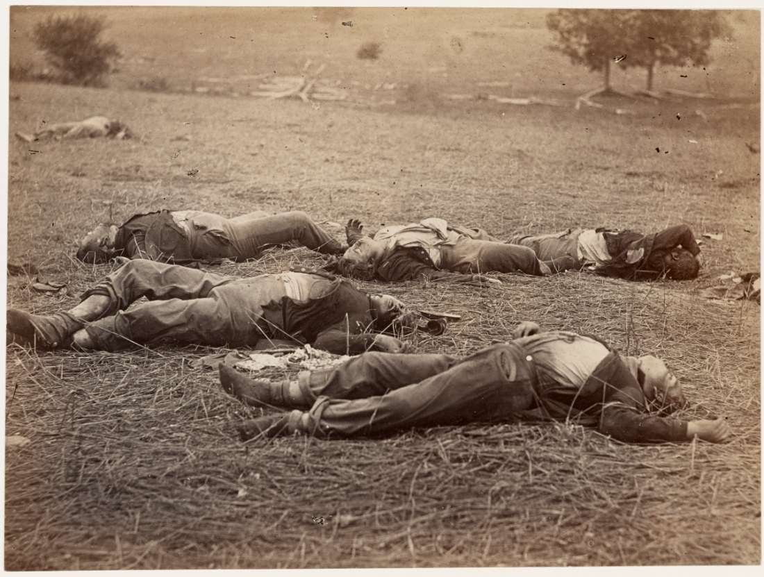 Alexander Gardner and Timothy O'Sullivan, Field Where General Reynolds Fell, Gettysburg, July, 1863.