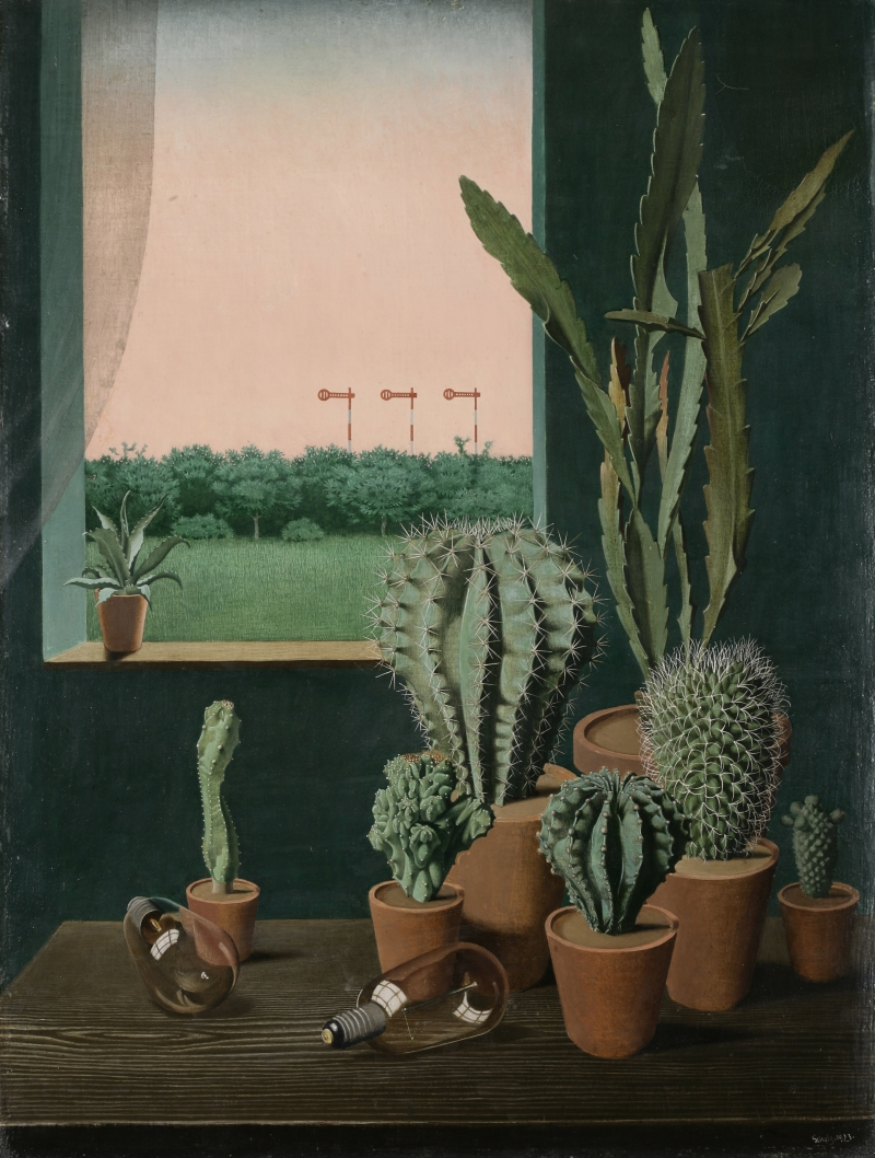 Georg Scholz, Cacti and Semaphore, 1923.