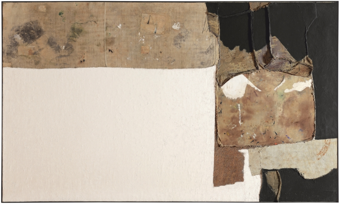 Alberto Burri, Grande bianco (Large White), 1952.