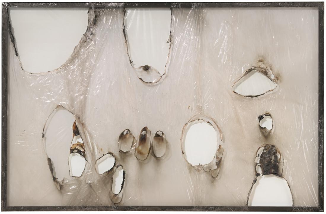 Alberto Burri, Grande bianco plastica (Large White Plastic), 1964.