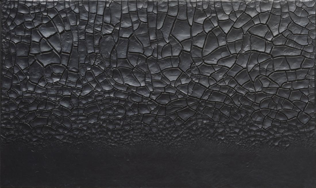 Alberto Burri, Grande cretto nero (Large Black Cretto), 1977.
