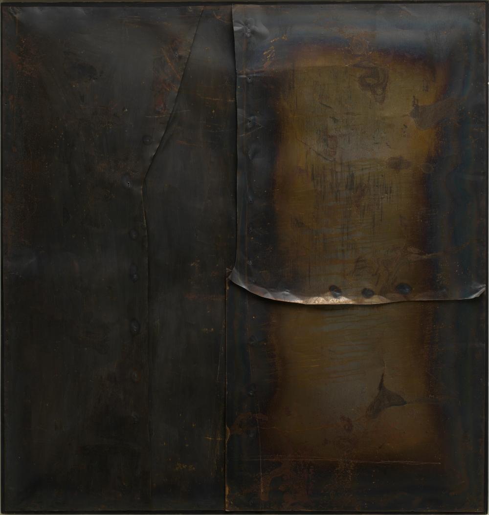 Alberto Burri, Grande ferro M 4 (Large Iron M 4), 1959.