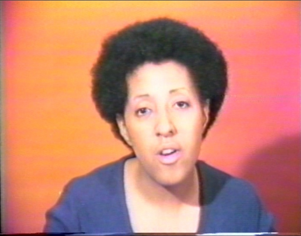 Howardena Pindell, Free, White and 21 (video still), 1980.