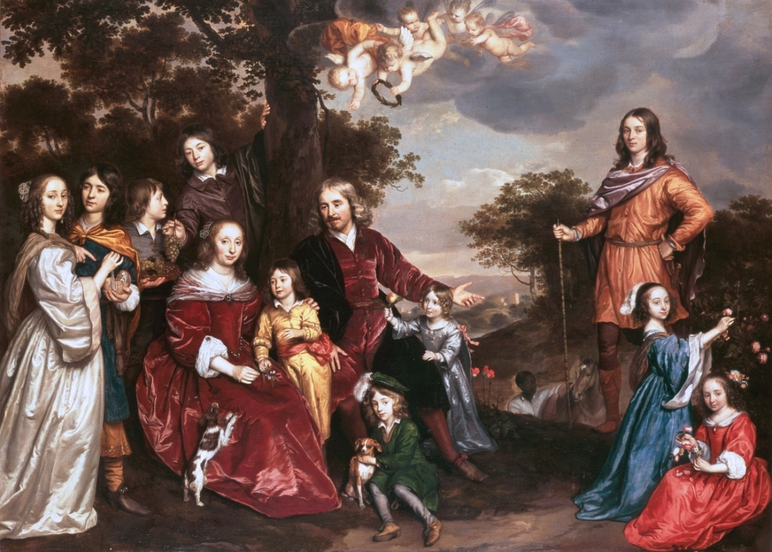 Jan Mijtens, Willem van den Kerckhoven and His Family, 1652, 1655.