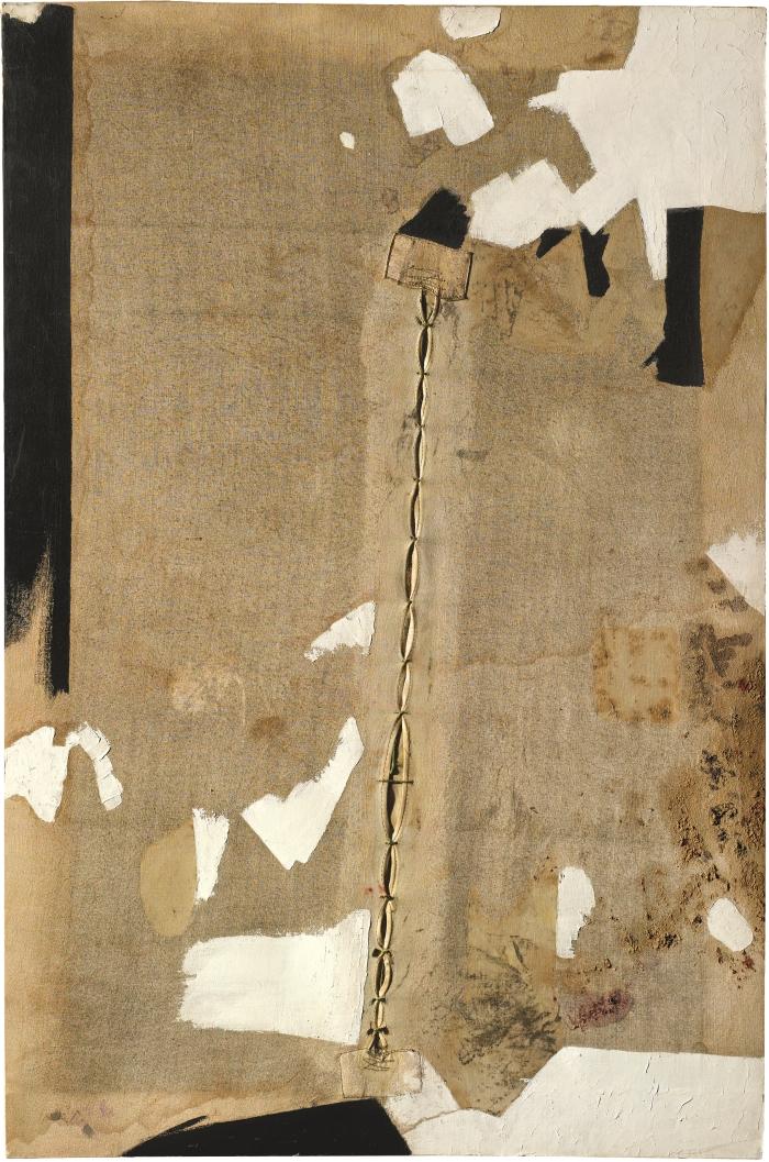 Alberto Burri, Lo strappo (The Rip), 1952.