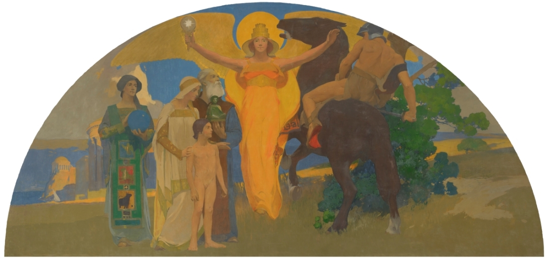 Arthur Frank Matthews, The Victory of Culture, 1914-15.