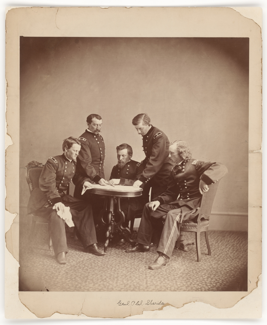 Alexander Gardner, General Sheridan and His Staff, c. 1865.