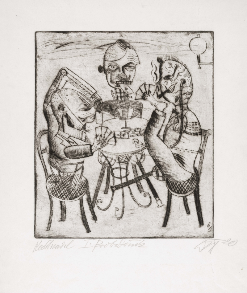Otto Dix, Card Players, 1920.
