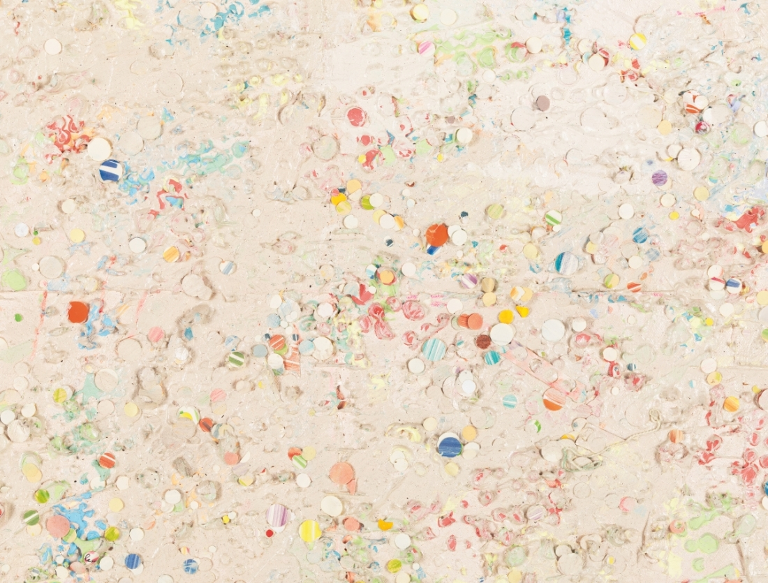 Howardena Pindell, Carnival at Ostende (detail), 1977.