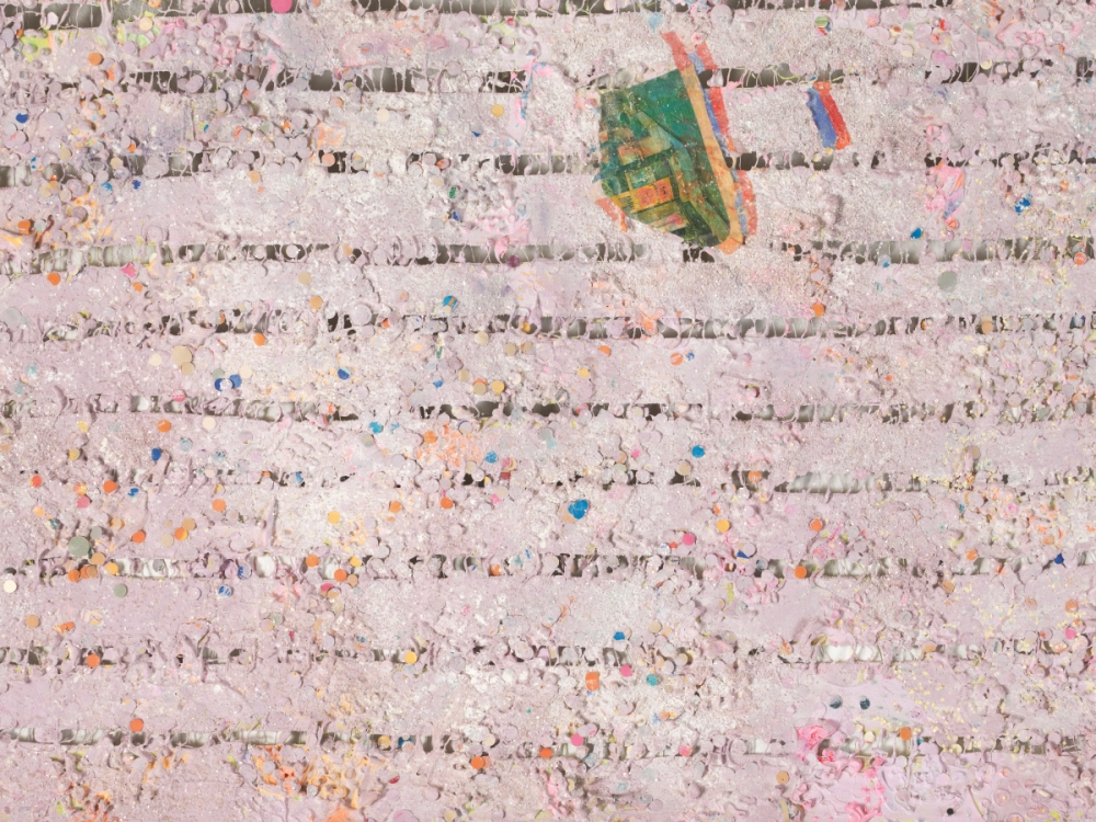 Howardena Pindell, Memory: Past (detail), 1980-81.