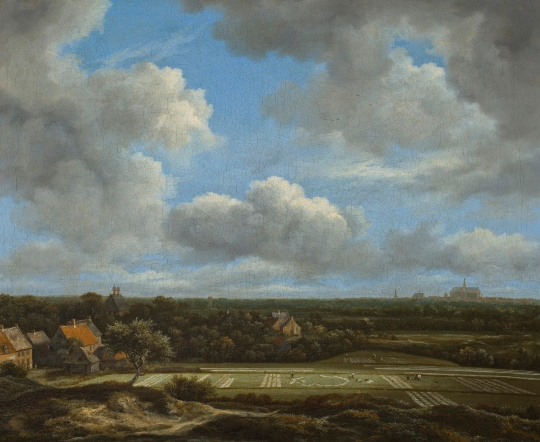 Jacob van Ruisdael, View of the Plain of Haarlem with Bleaching Grounds, ca. 1660-63.