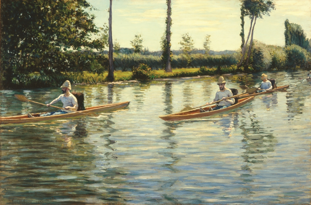 Gustave Caillebotte, Boating on the Yerres, 1877.