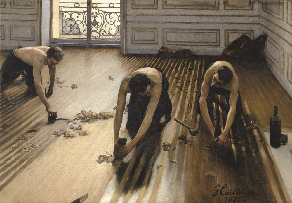 Gustave Caillebotte, The Floor Scrapers [Raboteurs de parquet]. 1875.