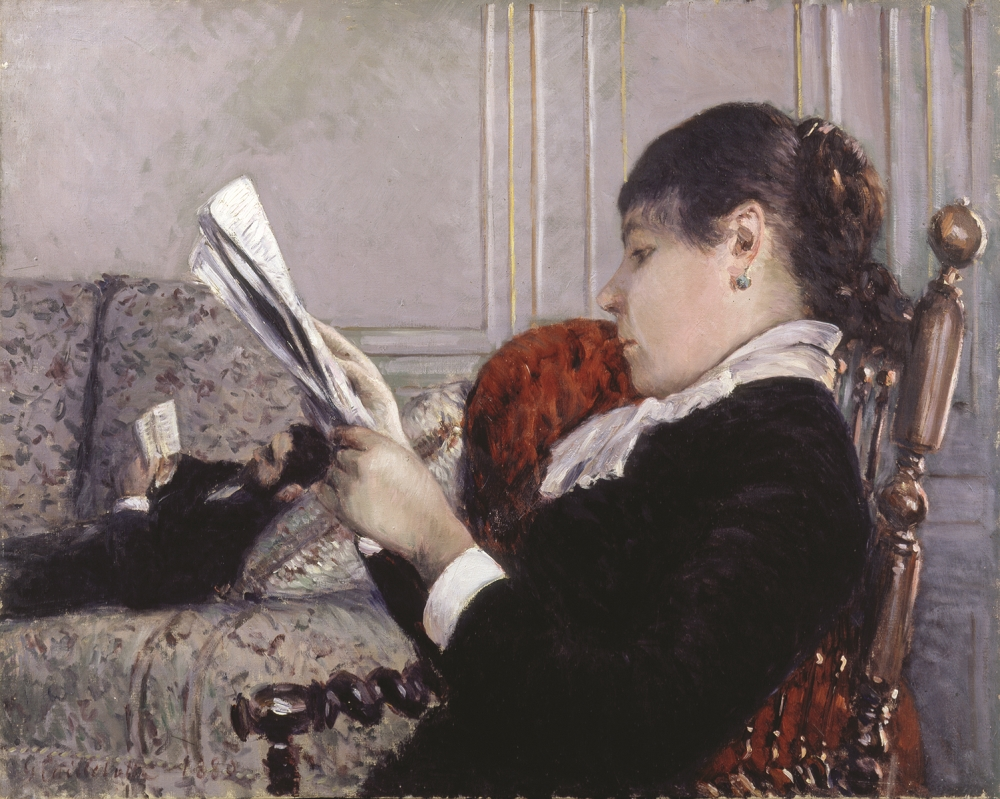 Gustave Caillebotte, Interior, a Woman Reading, 1880.