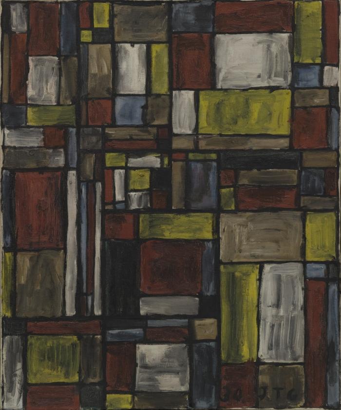 Joaquín Torres García. Estructura en color (Color structure), 1930.