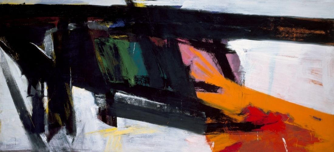 Franz Kline, Orange and Black Wall, 1959.