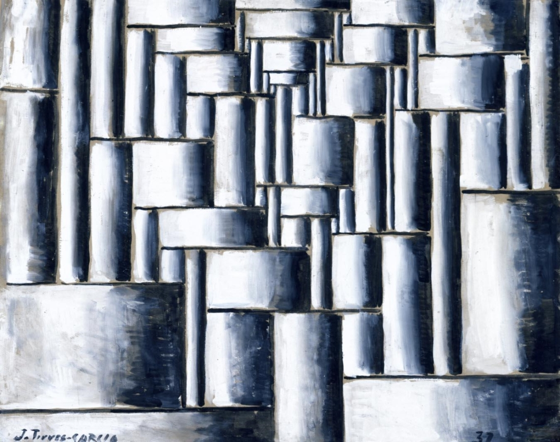 Joaquín Torres García, Abstract Tubular Composition, 1937.