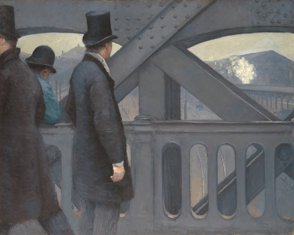 Gustave Caillebotte, On the Pont de l'Europe, 1876-77.