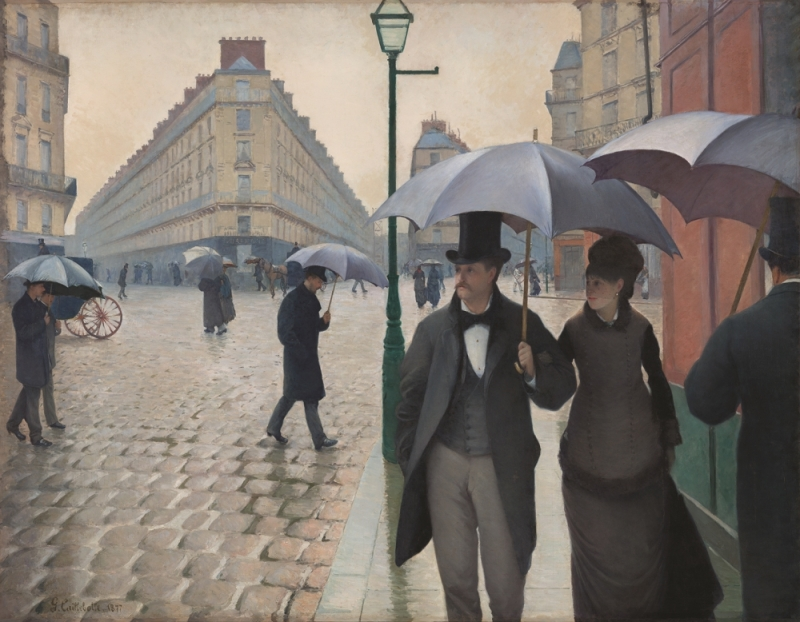 Gustave Caillebotte, Paris Street; Rainy Day, 1877.