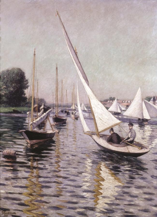 Gustave Caillebotte, Regatta in Argenteuil, 1893.