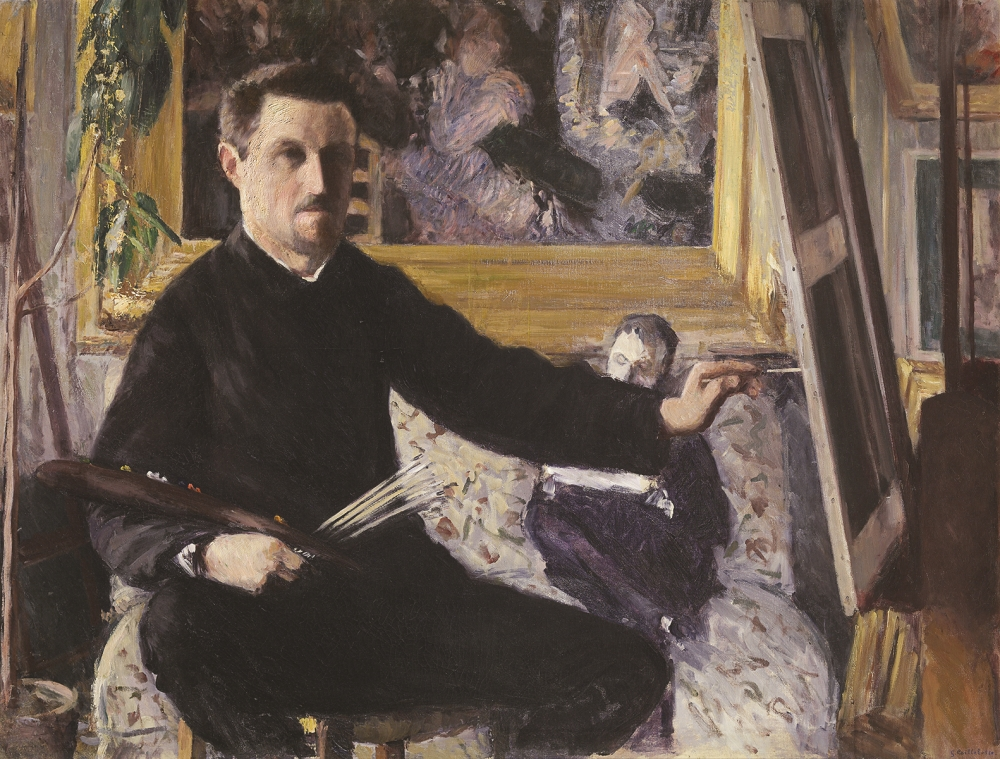 Gustave Caillebotte, Self-Portrait at the Easel, 1879-80.