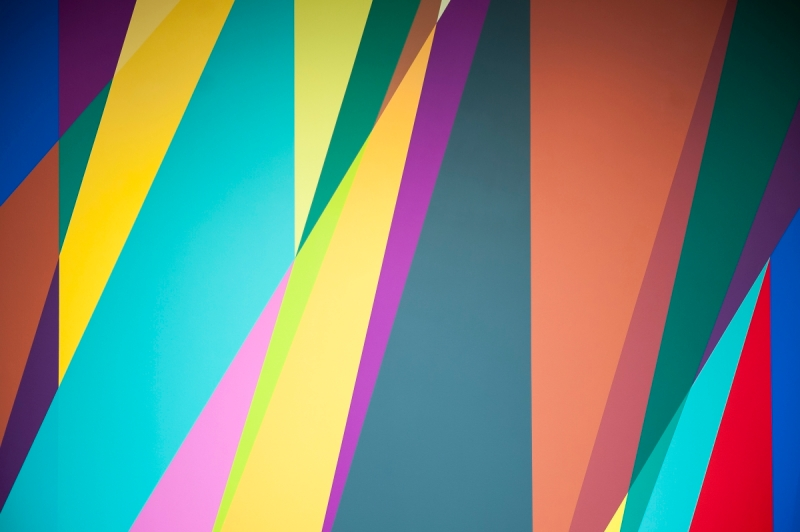 Odili Donald Odita, Shadow and Light (for Julian Francis Abele), 2015.