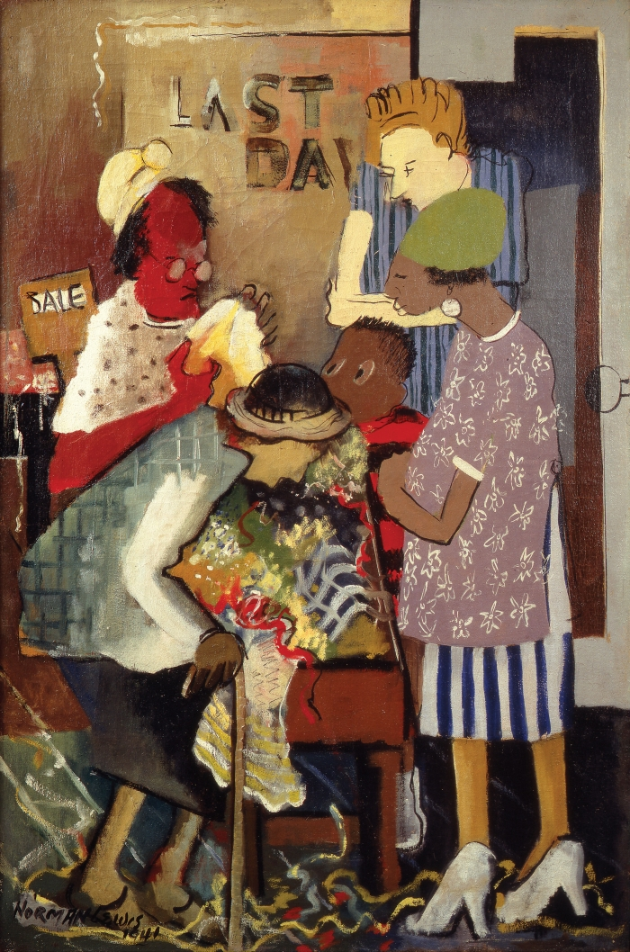 Norman Lewis, Meeting Place (aka Shopping), 1941.