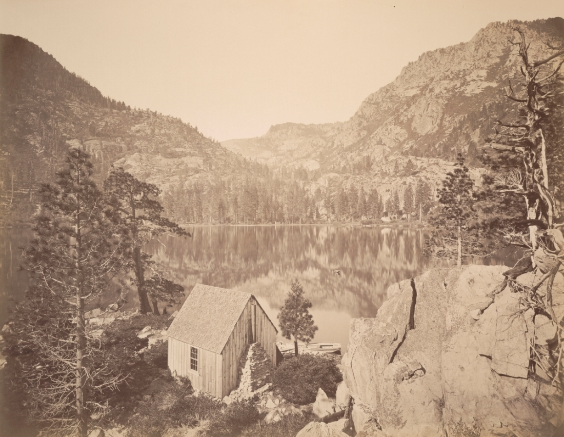 Carleton Watkins, Emerald Bay from the Island, Lake Tahoe, El Dorado County, 1876.