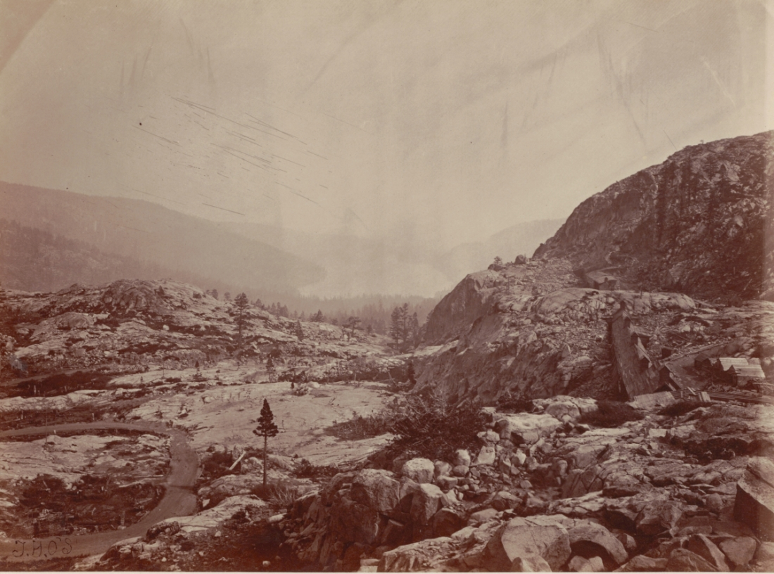 Timothy O'Sullivan, Donner Lake, View from Donner Summit, 1867.