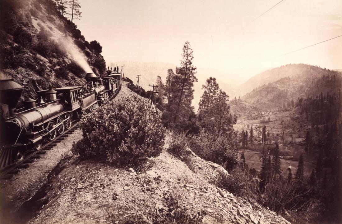 Carleton Watkins, Rounding Cape Horn, ca. 1876.
