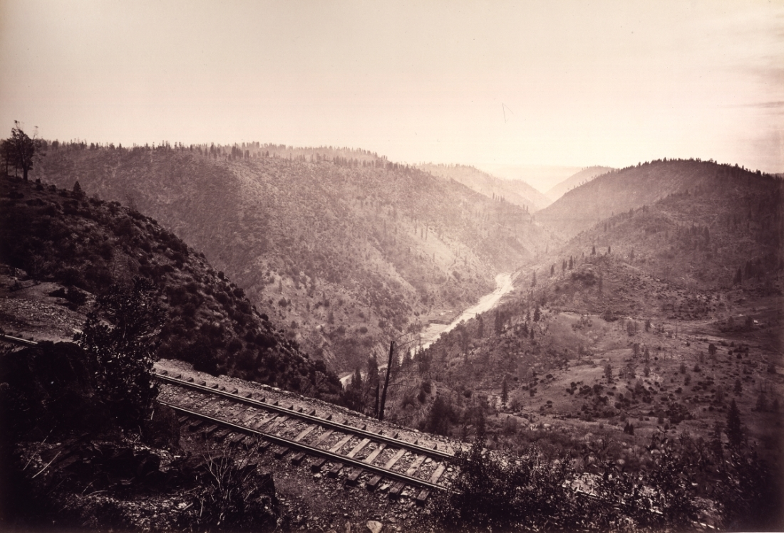 Carleton Watkins, The Canon of the American River, from Cape Horn, ca. 1880s.