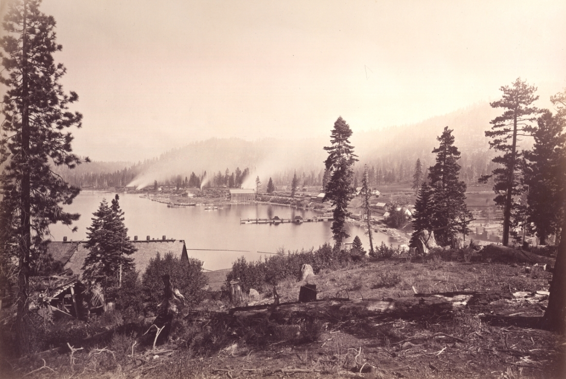 Carleton Watkins, Glenbrook Bay, Lake Tahoe, Douglas County, Nevada, 1876.