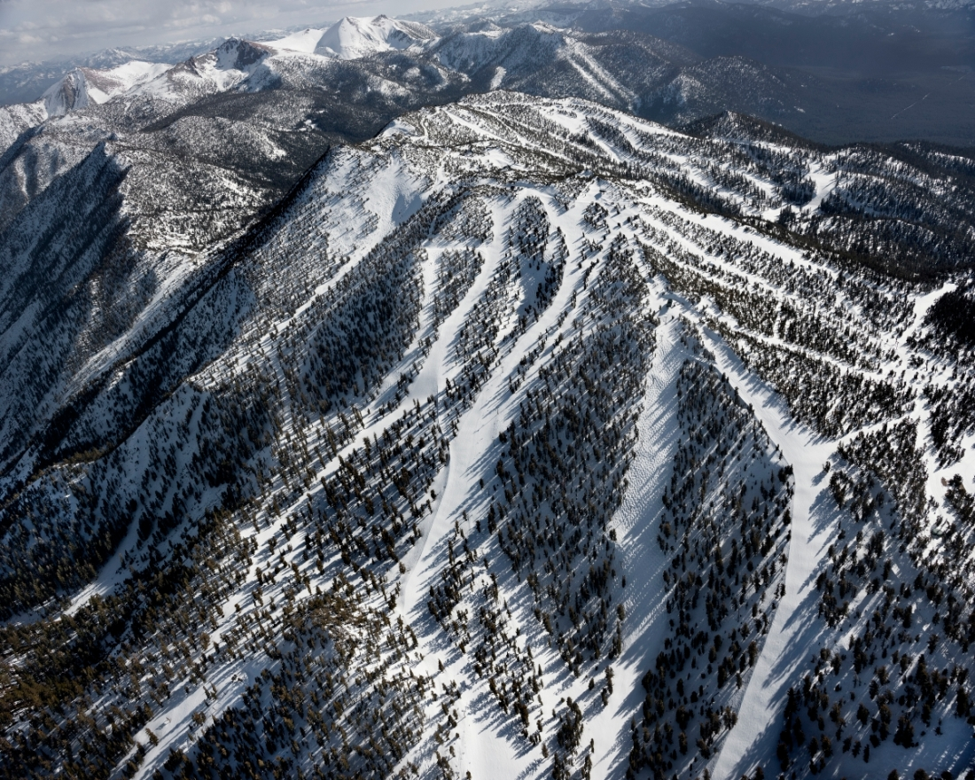 Michael Light, Heavenly Ski Resort Looking Southwest, Dipper Express Quad Chairlift at Center with 10,067' Monument Peak Beyond, South Lake Tahoe, CA, 2014.