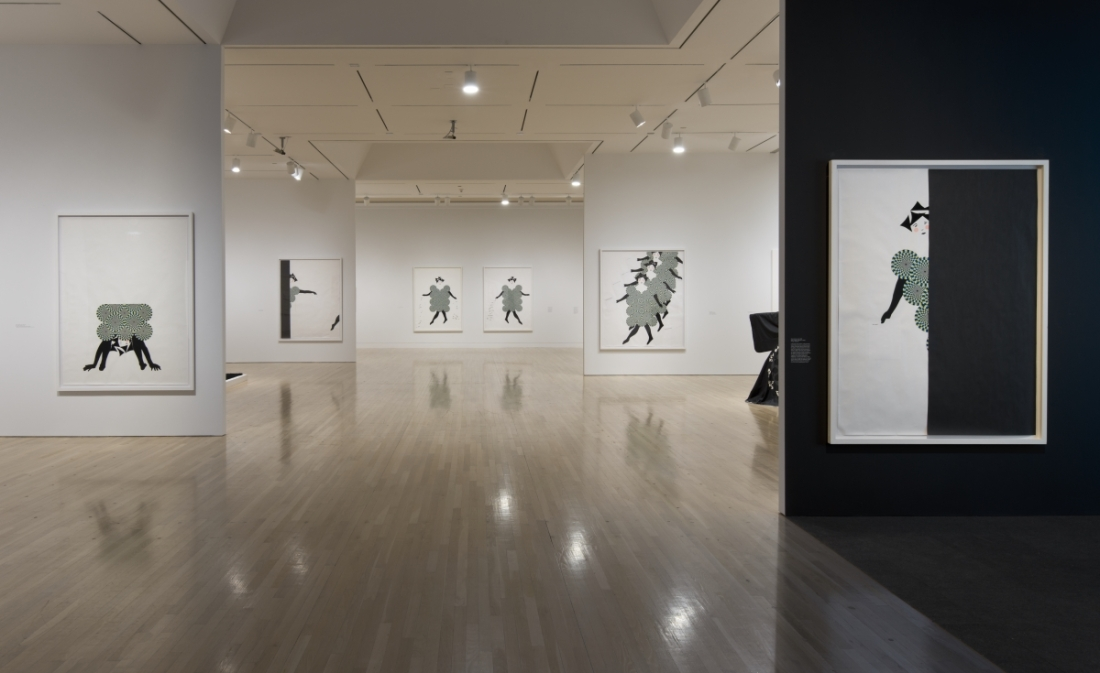 Installation view of UH-OH: Frances Stark 1991-2015. October 11, 2015–January 24, 2016. Hammer Museum, Los Angeles. Photo by Brian Forrest.