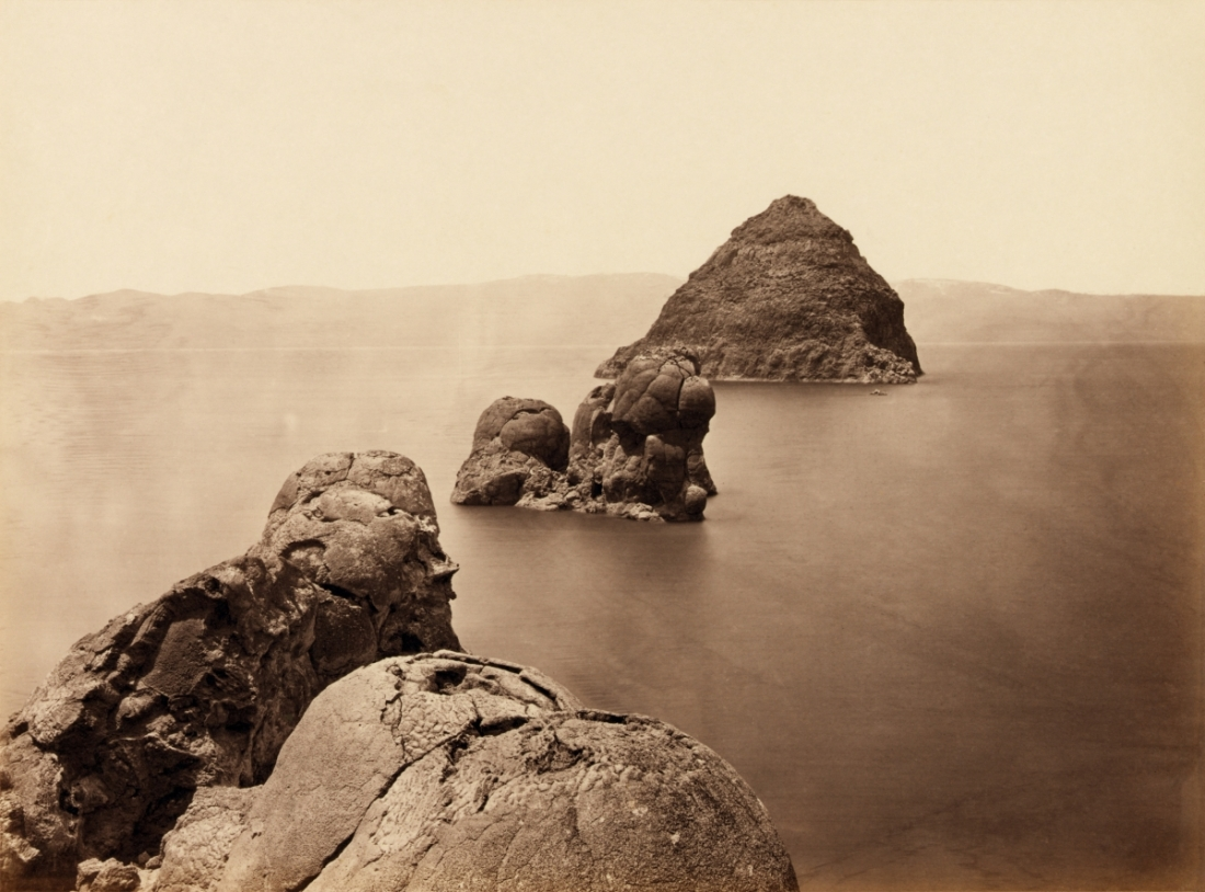 Timothy O'Sullivan, The Pyramid and Domes, Pyramid Lake, Nevada, 1867.