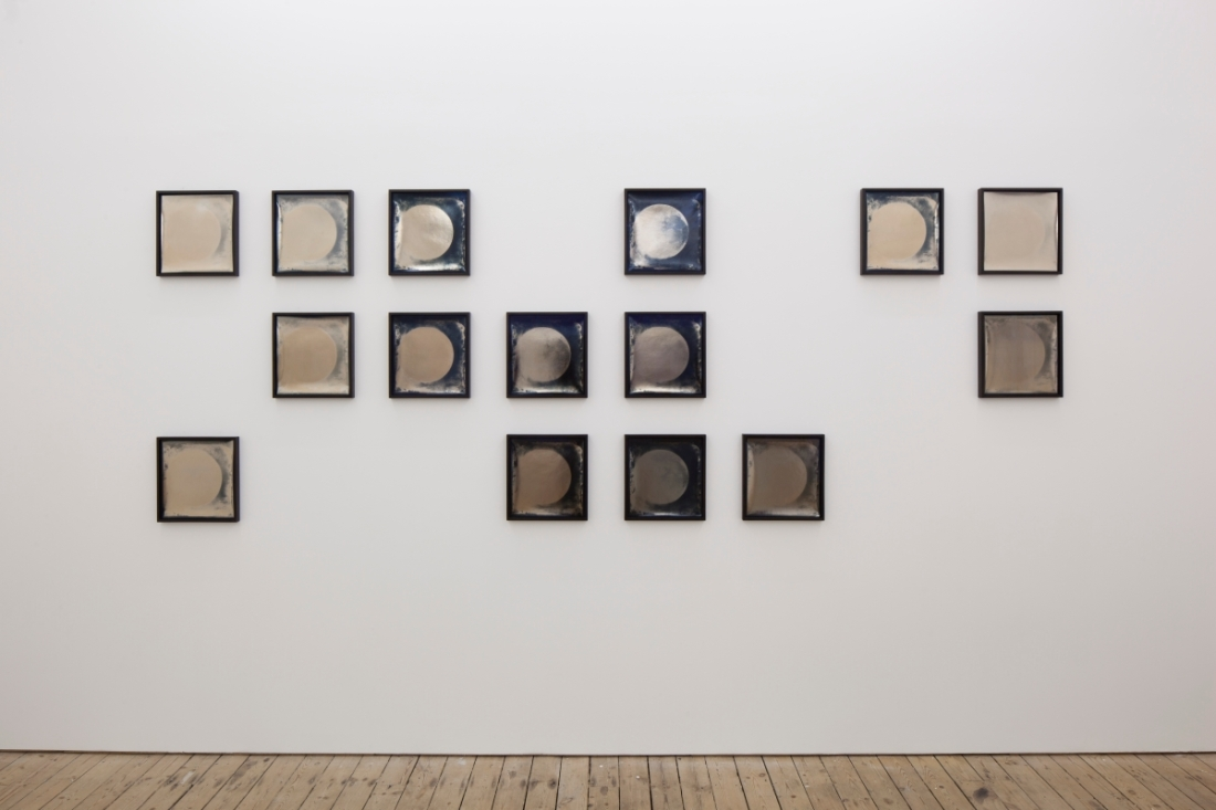 Installation view of Lisa Oppenheim, Lunagrams, 2010.