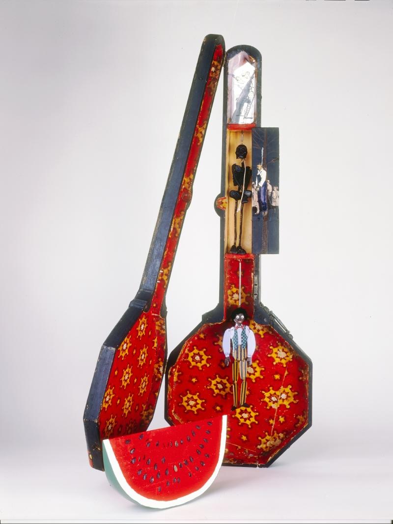 Betye Saar, Sambo's Banjo, 1971-72.