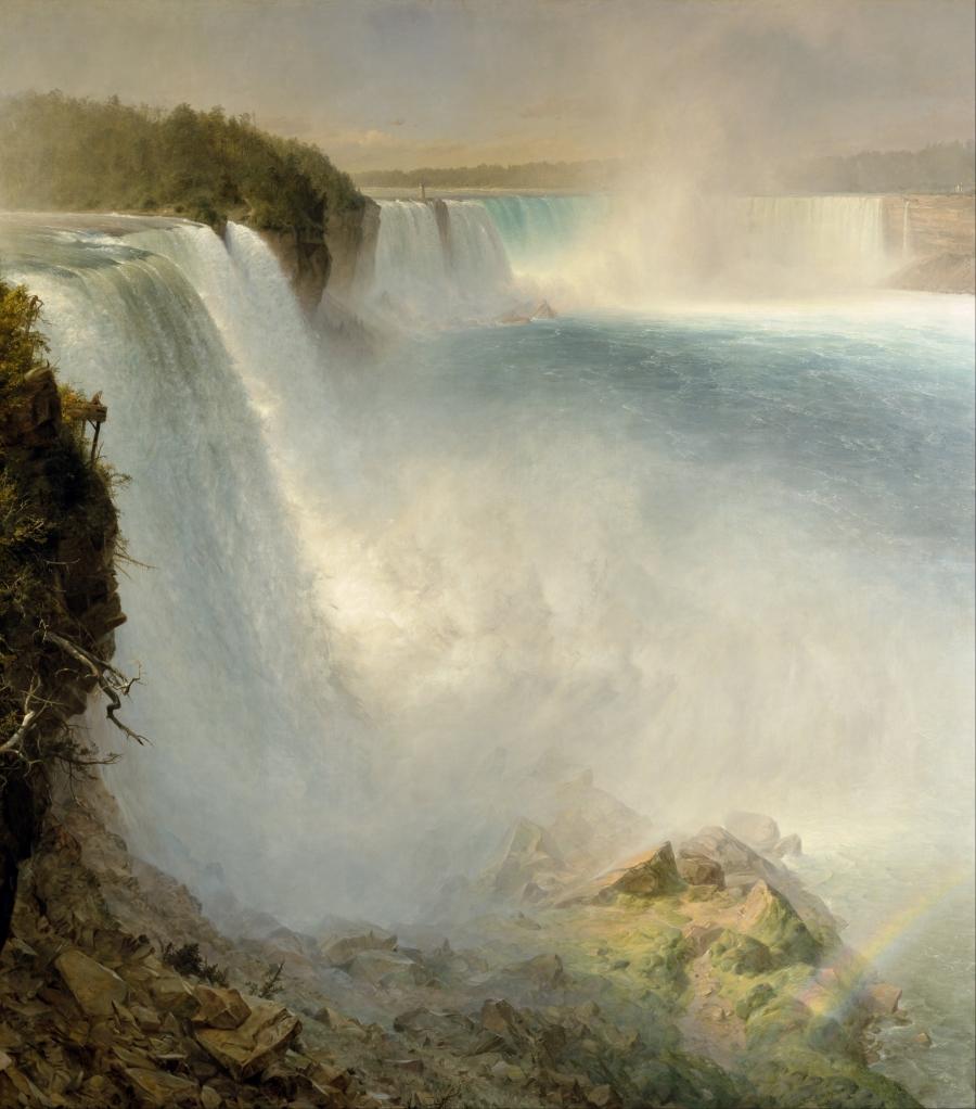Frederic Edwin Church, Niagara Falls from the American Side, 1867.