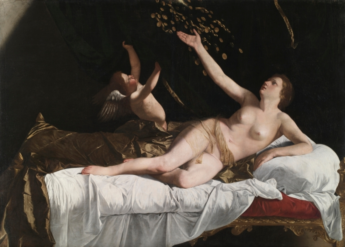 Orazio Gentileschi, Danae, c. 1623. Collection of the Cleveland Museum of Art.