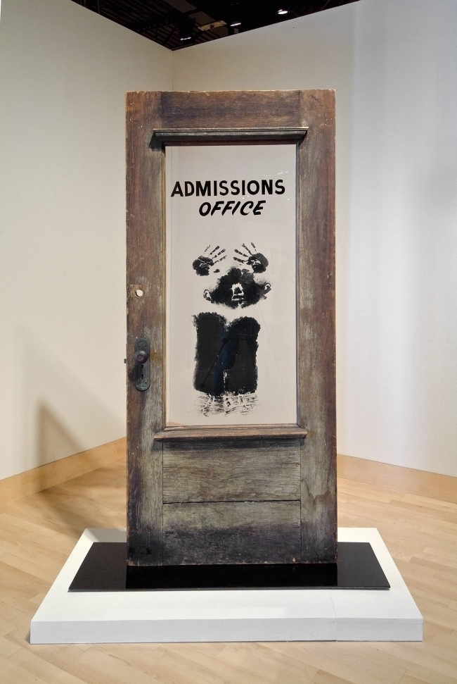 David Hammons, The Door (Admissions Office), 1969.