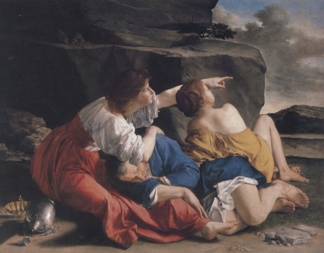 Orazio Gentileschi, Lot and His Daughters, 1621-22.