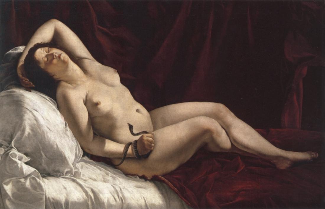 Orazio Gentileschi, Cleopatra, ca. 1610.
